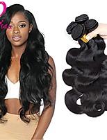 Недорогие -Бразильские волосы Естественные кудри Ткет человеческих волос 4шт 4 предмета 0.4