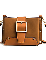 cheap -Women's Bags PU Shoulder Bag Buttons for Shopping Casual All Seasons Black Purple Brown