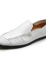 cheap -Men's Shoes Synthetic Microfiber PU Spring Fall Comfort Loafers & Slip-Ons for Casual White Black