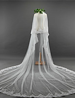 cheap -Two-tier Vintage Wedding Veil Cathedral Veils 53 Embroidery Tulle