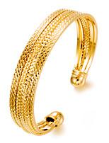 abordables -Femme Manchettes Bracelets Métallique Mode Plaqué or Bijoux Soirée Cadeau Bijoux de fantaisie Or