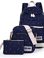 cheap -Women's Bags Canvas Polyester Bag Set 3 Pcs Purse Set Zipper for Casual All Seasons Red Dark Blue Light Green Fuchsia Royal Blue
