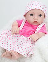 Недорогие -NPK DOLL Куклы реборн Дети 28cm Винил как живой Милый стиль Безопасно для детей Взаимодействие родителей и детей моделирование Милый Non