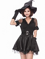 cheap -Witch Halloween Carnival Oktoberfest Birthday Festival / Holiday Halloween Costumes Black Color Block Animal Vampires