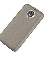 Недорогие -Кейс для Назначение Motorola G5 Plus Ультратонкий Кейс на заднюю панель Сплошной цвет Мягкий ТПУ для Moto G5s Plus Moto G5s Мото G5 Plus
