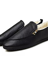 cheap -Men's Shoes Synthetic Microfiber PU Winter Moccasin Loafers & Slip-Ons for Casual White Black
