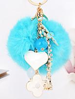cheap -Birthday Friends Wedding Keychain Favors Rabbit Fur Zinc Alloy Keychain Favors - 1