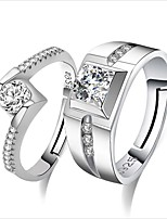 cheap -Women's Couple Rings Crystal Cubic Zirconia Heart Fashion Silver Jewelry Wedding Daily