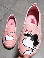 Недорогие -Девочки обувь Полотно Весна Осень Удобная обувь Обувь для малышей Мокасины и Свитер для Повседневные Желтый Розовый Светло-синий