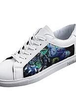 Недорогие -Муж. обувь Полиуретан Весна Осень Удобная обувь Кеды для Повседневные Белый Черный Цвет радуги