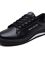 cheap -Men's Shoes PU Spring Fall Light Soles Sneakers for Casual White Black Black/White