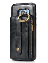 cheap -Case For Samsung Galaxy Note 8 Card Holder Wallet Full Body Cases Solid Color Hard Genuine Leather for Note 8