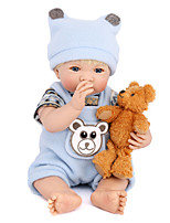 cheap -NPK DOLL Reborn Doll Baby 35cm Vinyl lifelike Cute Child Safe Parent-Child Interaction Simulation Lovely Non Toxic Children's Adults'
