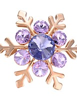 cheap -Women's Brooches AAA Cubic Zirconia Fashion Korean Gold Plated Snowflake Purple Jewelry For Gift Evening Party