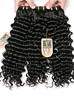 cheap -Brazilian Hair Deep Wave Human Hair Weaves 3pcs High Quality Extention Women Youth