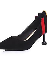 preiswerte -Damen Schuhe Kaschmir Frühling Komfort High Heels Stöckelabsatz Spitze Zehe für Normal Schwarz