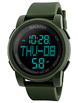 cheap -SKMEI Men's Digital Watch Military Watch Sport Watch Japanese Digital Alarm Chronograph Water Resistant / Water Proof Stopwatch Silicone