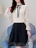 cheap -Women's Boho Cotton Shirt - Solid