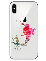 abordables -Funda Para Apple iPhone X iPhone 8 Ultrafina Diseños Funda Trasera Chica Sexy Suave TPU para iPhone X iPhone 8 Plus iPhone 8 iPhone 7