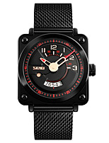 cheap -SKMEI Men's Sport Watch Japanese Quartz Water Resistant / Water Proof Stainless Steel Band Luxury Vintage Black