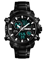 cheap -SKMEI Men's Digital Sport Watch Chinese Calendar / date / day Water Resistant / Water Proof Noctilucent Stopwatch Alloy Band Luxury