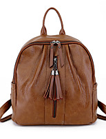 cheap -Women's Bags PU Backpack Zipper for Casual Office & Career All Seasons Black Red Gray Brown