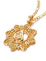 economico -Per uomo Per donna Forma Metallico Di tendenza Collane con ciondolo Cristallo Placcato in oro Collane con ciondolo Compleanno Regalo