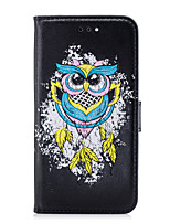 cheap -Case For Apple iPhone 8 iPhone 8 Plus Card Holder Flip Pattern Full Body Cases Owl Hard PU Leather for iPhone X iPhone 8 Plus iPhone 8