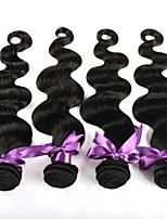 cheap -Brazilian Hair Body Wave Human Hair Weaves 4-Pack Natural Color Hair Weaves