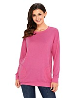abordables -Tee-shirt Femme, Couleur Pleine Polyester