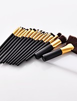 cheap -15pcs Makeup Brush Set Blush Brush Eyeliner Brush Powder Brush Synthetic Hair Full Coverage Beech Wood Face Nose