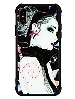 abordables -Funda Para Apple iPhone X iPhone 8 Antigolpes Diseños Funda Trasera Chica Sexy Dura Vidrio Templado para iPhone X iPhone 8 Plus iPhone 8