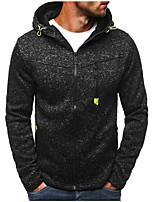 cheap -Men's Plus Size Hoodie - Solid, Cut Out