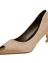 preiswerte -Damen Schuhe PU Frühling Herbst Komfort High Heels Stöckelschuh Spitze Zehe für Normal Schwarz Rot Khaki