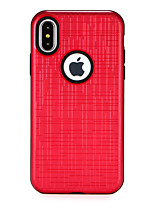 baratos -Capinha Para Apple iPhone X iPhone 8 Antichoque Confortável Capa traseira Côr Sólida Rígida PC para iPhone X iPhone 8 Plus iPhone 8