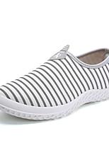 abordables -Hombre Zapatos Tela Primavera Otoño Confort Zapatos de taco bajo y Slip-On para Casual Blanco Negro Azul