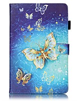 cheap -Case For Samsung Galaxy Tab E 9.6 Card Holder Wallet with Stand Pattern Auto Sleep/Wake Up Full Body Cases Butterfly Hard PU Leather for