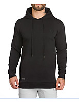cheap -Men's Daily Casual Solid Hooded Hoodie Regular Winter Fall Cotton