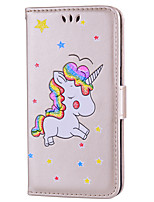 cheap -Case For Huawei P10 Lite P10 Card Holder with Stand Flip Pattern Full Body Cases Unicorn Hard PU Leather for P10 Lite P10 Huawei P9 Lite