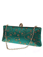 cheap -Women's Bags Metal Evening Bag Crystal Detailing for Wedding Event/Party All Seasons Blue Green