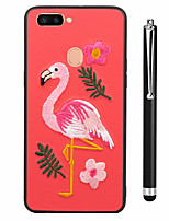 abordables -Coque Pour OPPO R9s R11s Motif Coque Coque Intégrale Flamant Animal Flexible TPU pour OPPO R11s Plus Oppo R11s Oppo R11 Plus Oppo R11