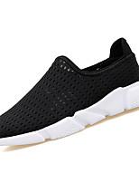 Недорогие -Муж. обувь Полиуретан Весна Осень Удобная обувь Мокасины и Свитер для Повседневные Белый Черный