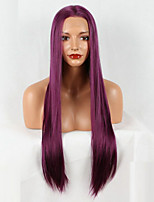 cheap -Synthetic Lace Front Wig Straight Synthetic Hair African American Wig Purple Wig 20-40inch Lace Front Wig
