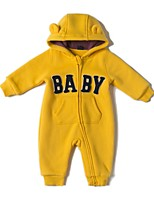 cheap -Baby Boys' Daily Sports Solid One-Pieces,Cotton Winter Fall Active Long Sleeve Yellow