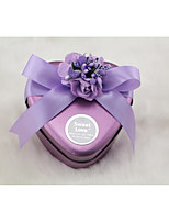cheap -Heart-Shaped Rustless Iron Favor Holder with Satin Bow Pattern / Print Favor Boxes - 1pc