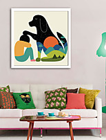 cheap -Animals Cartoon Illustration Wall Art,Plastic Material With Frame For Home Decoration Frame Art Living Room Indoor