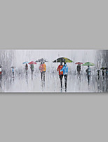 cheap -Hand-Painted People Horizontal, Modern Oil Painting Home Decoration One Panel
