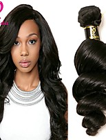 cheap -Peruvian Hair Loose Wave Human Hair Weaves Natural Color Hair Weaves Women's Daily