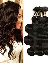 cheap -Indian Hair Body Wave Human Hair Weaves 3pcs Natural Color Hair Weaves