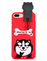 economico -Custodia Per Apple iPhone 8 Plus iPhone 7 Plus Fantasia/disegno Per retro Con cagnolino Morbido TPU per iPhone 8 Plus iPhone 7 Plus